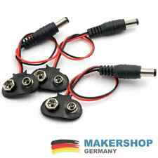 3x 9 Volt Batteriehalter Clip Blockbatterie Batterie Halterung 9V DC Buchse