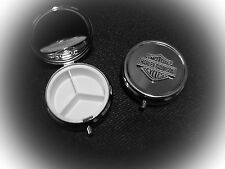 "Harley Davidson Bar & Shield Pin Pill Box Vitamin Box ""Great Gift"""