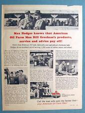 Endorsed by Max Hodges of  Delta Area of Mississipi 1964 American Oil Photo Ad