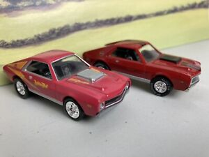 Johnny Lightning 1969 AMC AMX 390 x 2. One on rubber tyres (Real Riders)