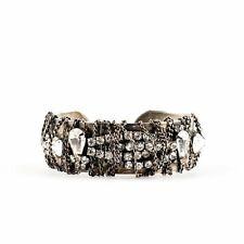 Open Cuff Bracelet Dannijo Silver Jewelled Encrusted
