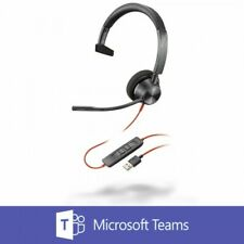 Plantronics Blackwire 3310 BW3310-M SMono USB-A PC Headset for Microsoft Teams