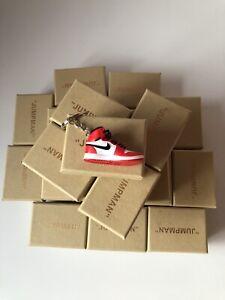 nike air jordan 1 chicago 3D keyring with box ( stocking filler , gift)