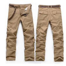 Men's Combat Cotton Cargo Pants Military Camouflage Camo Trousers
