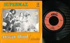 SUPERMAX 45 TOURS BELGIQUE ALASSIO AFRICAN BLOOD