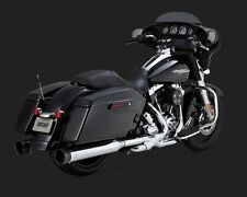 "VANCE & HINES 4.5"" OVER-SIZE EXHAUST SLIP-ON MUFFLERS HARLEY FLHR ROAD KING"