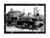 HISTORIC POLSON LOGGING Co. HOQUIAM, WQASHINGTON TRAIN POSTCARD