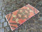 Turkish doormats, Handmade rug, Vintage rug, Carpet, Home decor   1,5 x 2,9 ft