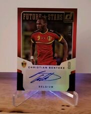 2015 Donruss Future Stars Signatures Gold #2 Christian Benteke SN 02/49
