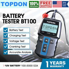 TOPDON BT100 Car Battery Test 12V Load Tester Automotive Alternator 100-2000CCA