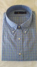 Polo Ralph Lauren Men's Dress Shirts Different Pattern Regular Fit BRAND 18 34/35 Checks Light Blue and Yellow