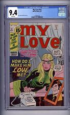 CGC (MARVEL) MY LOVE # 13 NM 9.4 WHITE PAGES 1971  NICE!(@@)!