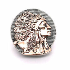 "Right Facing Chief Head Concho Antique Nickel w/Rose Gold 1-1/4"" 3666-31"