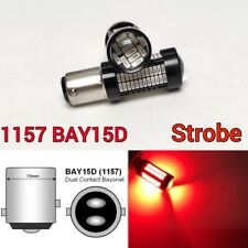 Strobe Rear Signal 1157 2057 3496 7528 BAY15D 108 SMD Red LED Bulb K1 HAK