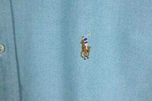 Ralph Lauren Mens sz XL Light Blue Oxford Long Sleeve Button Up Shirt