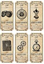 Vintage inspired Halloween 6 large bottle label steampunk sticker scrapbooking
