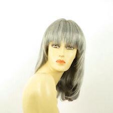 Parrucca donna semi lunga grigio : babette 51