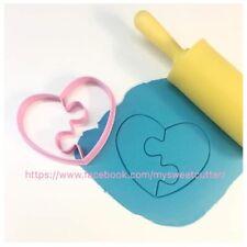 San Valentino Amore Love Cuore Puzzle 8cm Formine Biscotti Cookie Cutter