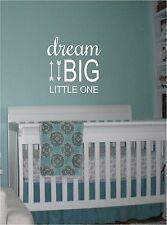 Dream Big Little One Arrows Nursery Decor Vinyl Decal Sticker Wall Sticker 20x21