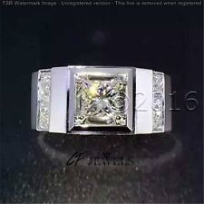 1.71CT Off White Yellow Moissanite Ring Wedding Promise Ring 925 Silver Ring A00