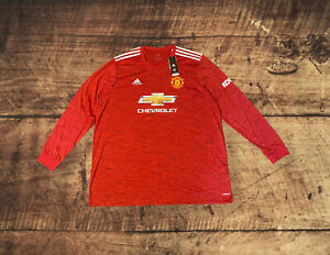 Adidas Manchester United Home jersey 2020/2021 Long Sleeve Men's Size 3XL FM4290