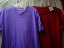 Ralph Lauren NWT Red and Purple 100% Cotton Short Sleeve Tops S/P Lot/Set of 2