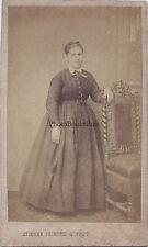Etienne Photographe primitif Abbeville France cdv Vintage albumine ca 1860