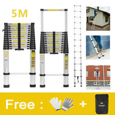 5M Multi-Purpose Aluminium Telescopic Ladder Extension Extendable Step EN131 150