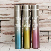 Stainless Double Wall Vacuum Insulated Water Bottle for Camping Hiking 260ml