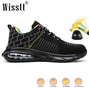 Mens Protective Air Military Shoes Boots Work Safety Workout Steel Toe Trainers
