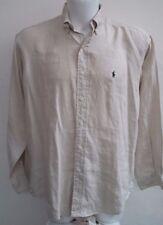 camicia uomo puro lino Polo Ralph Lauren taglia S veste fino alla taglia 54