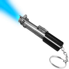 Star Wars Luke Skywalker Blue LED Lightsaber Flashlight Keychain Disney