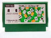Nintendo Famicom NES Mahjong 1983 Japan Video Game FC Used