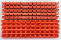 156 teiliges SET Lagersichtboxenwand Stapelboxen mit Montagewand