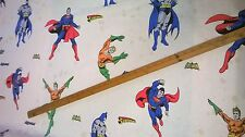 100% COTONE TESSUTO DC COMICS BATMAN SUPERMAN AQUAMAN al metro