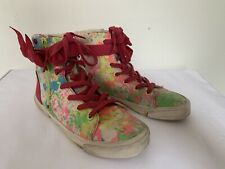 I Love Ugg 1008115 High Top Multicolored Sneakers Girls Yth Size 3