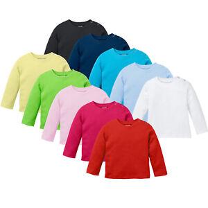 Langarmshirt, Baby T-Shirt aus Biobaumwolle mit langem Ärmel 100% BIO Baumwolle