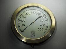 """Vintage - ASHCROFT DURAGAUGE Brass Pressure Gauge - 12"""" Screw On Bezel - WORKING"""