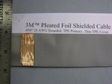 5 Ft 3M 90204/34 28 Awg Gry Pleated Copper Foil Shielded Cable