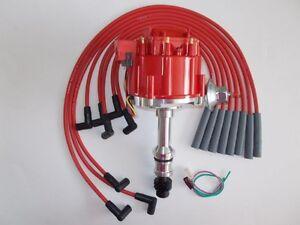 OLDSMOBILE 260,307,350,403 & 455 RED HEI DISTRIBUTOR & 8mm SPARK PLUG WIRES USA