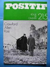 Cinéma revue Positif 215 1979 Woody Allen Francesco Rosi Joan Crawford Minnelli