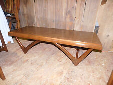 mid century modern eames era coffee sofa table danish mod wood formica vintage