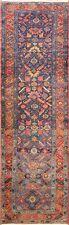 "3'3"" x 11'5"" Charming Antique Heriz, Serapi Runner, #16637"