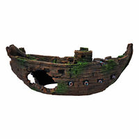 Sunken Galleon Aquarium Fish Tank Ornament, Polyresin Construction, Fish Safe