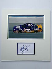 Mike Skinner Hand Signed Photo Mount Display Nascar Champion.