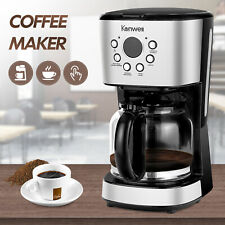 Semi-Automatic Brew 12 Cup Function Programmable Setting Drip Coffee Maker Black