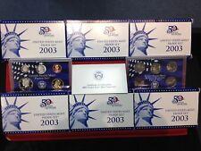 6 Set Lot 2003-S  10 Coin Proof Sets ORIGINAL
