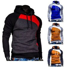 New Hoodies Men Thick Hooded Patchwork Hip Hop Sweatshirt Casual Clothing Jacket