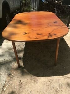 Mid-Century Modern Teak Dining Table and Chairs by DUX