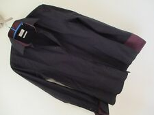 "New RIVER ISLAND Mens Black Formal Shirt / Collar 15""  Slim Fit."